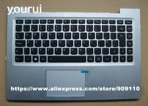 yourui Brand new laptop keyboard with touchpad palmrest For lenovo U330P U330T US/UK Euro layout