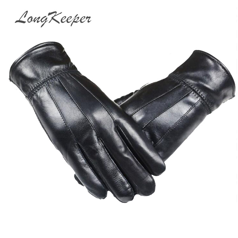 Back To Search Resultsapparel Accessories Longkeeper 2019 Women Full Finger Velvet Gloves Men Sheep Skin Leather Driving Mittens Male Black Winter Thick Warm Guante G356