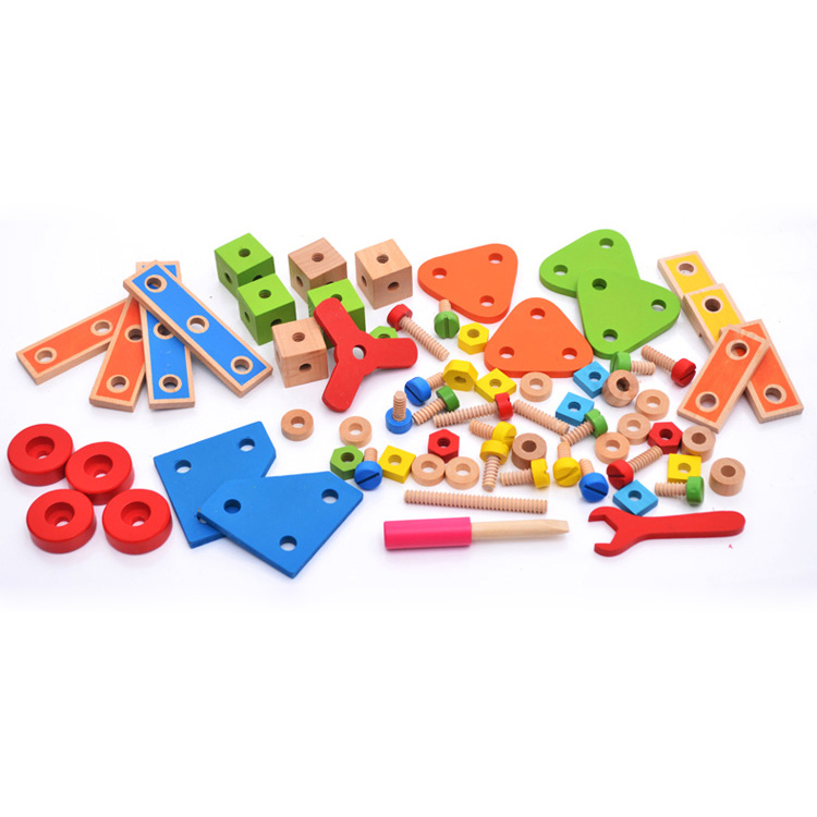 Chanycore Baby Learning Educational Wooden Toys Blocks Screws Nuts Assemblage Geometric Shape Set 70 hmymbs Kids Gifts 4214 happy cherry colourful wooden digtal geometric stacker blocks shape sorting box house wood toys educational toys for baby kids