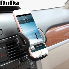 DuDa Car Telephone Accessories Air Vent Mount Holder Stand Universal Mobile Phone Support for iPhone 7 Xiaomi  Samsung oppo