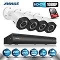 Annke 4ch 1080 p dvr hd cvi wdr digital 2.0 mp cámaras cctv sistema de cámaras de seguridad cctv del hogar con 1 tb
