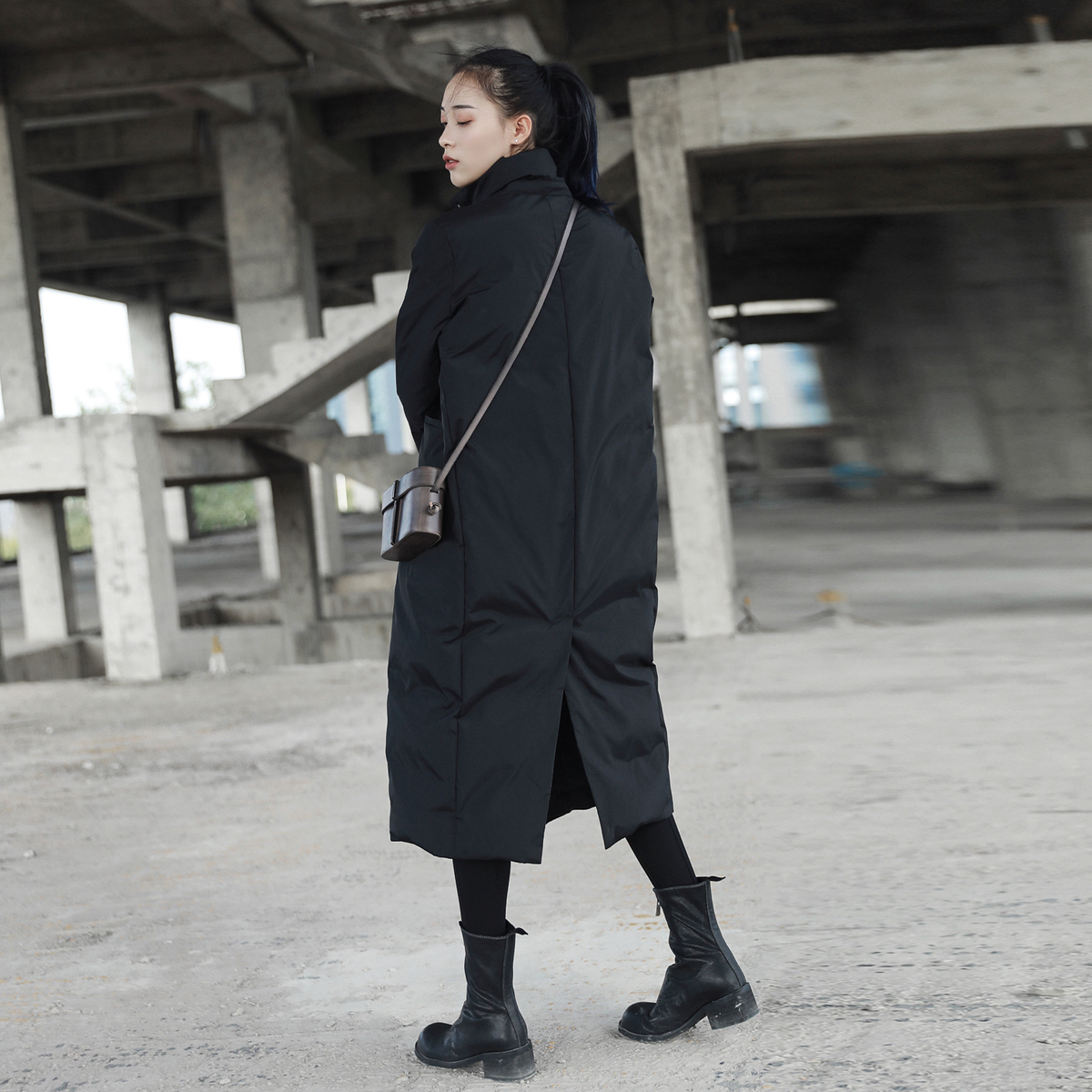 Coton Black Mode De Nouveau rembourré Manches Couleur Manteau Femmes Grande À Jd16 Noir eam Col 2019 Taille Marée Printemps Longues Montant Solide Évent 7wBfnq