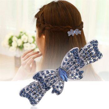 Women Girls Hair Clip Peacock Full Shiny Crystal Rhinestone Girls Hairpin Beauty