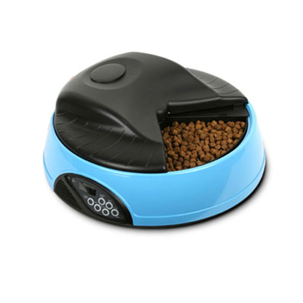 4 Meals Automatic Pets Feeder Food Trays Bowl Dispenser Setting Fixed Time Non-toxic Container Recording Reminders Pet Supplies