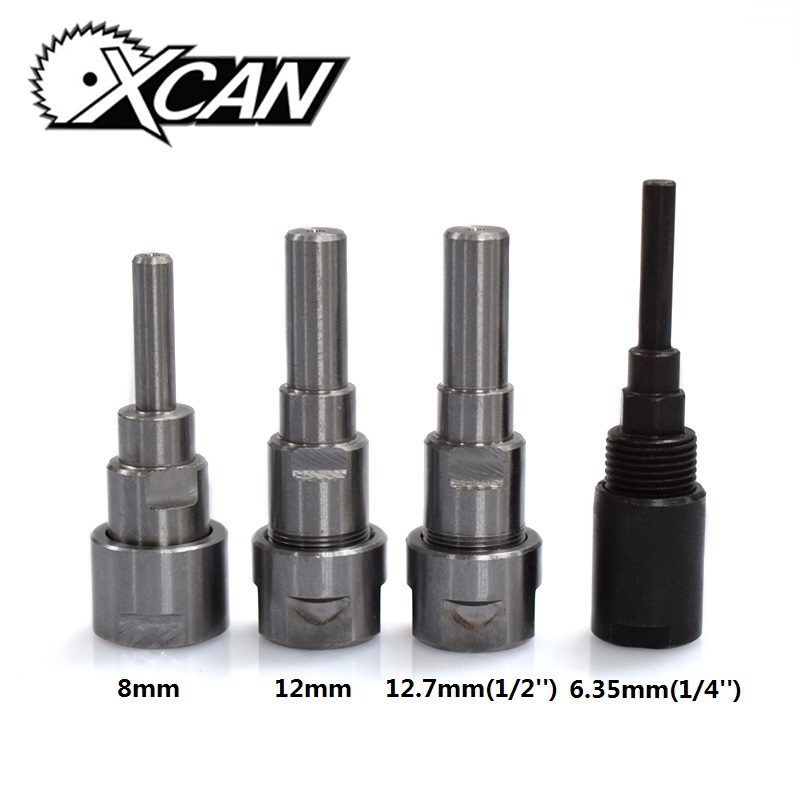 XCAN 1PC 6.35/8/12/12.7mm Shank Router Bits Collet Extension Rod for Engraving Machine Milling Cutter Tool HoldersXCAN 1PC 6.35/8/12/12.7mm Shank Router Bits Collet Extension Rod for Engraving Machine Milling Cutter Tool Holders