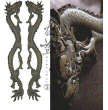 Doors glass door handle door handle modern Chinese antique bronze sculpture dragon Deluxe handle