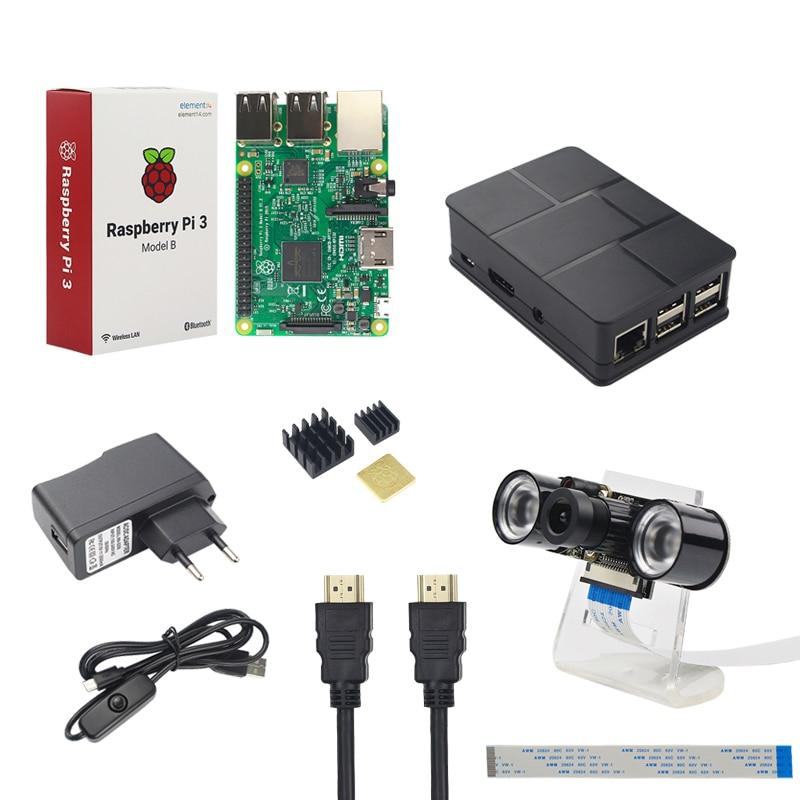 Здесь продается  Raspberry Pi Camera Kit Raspberry Pi 3 + Night Vision Camera + Holder + Power Plug + USB Cable +Case + HDMI Cable +Heat Sink  Компьютер & сеть