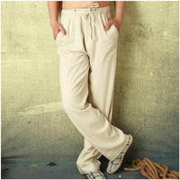 Good Quality New Style Men S Casual Pants Wholesale Big And Tall Mens Pants Cotton Linen