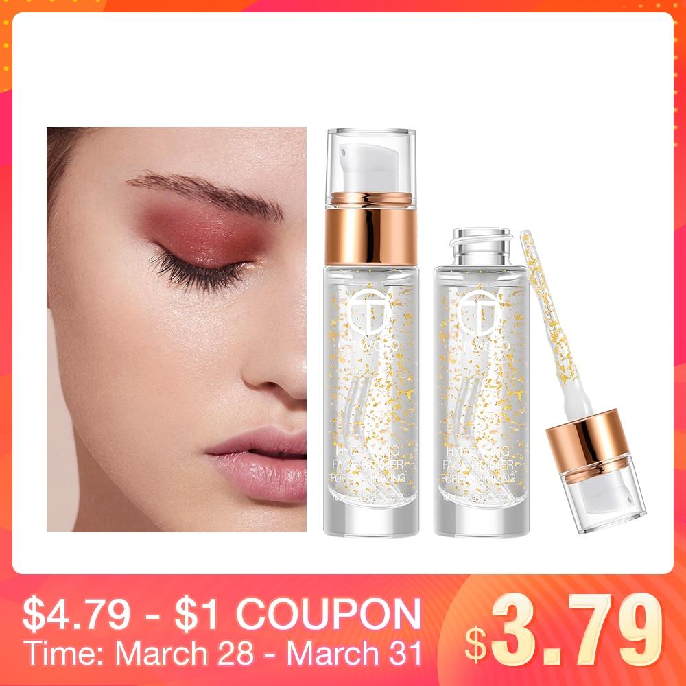 O.TWO.O profesional 24 K oro rosa Elixir maquillaje Primer Anti-envejecimiento hidratante cuidado de la cara aceite esencial maquillaje Base líquida 18 mL