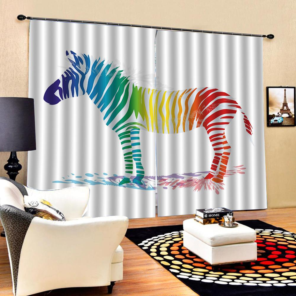 Horse Curtains For Bedroom.Us 105 75 53 Off Color Horse Curtains Nature Art Print Drapes Living Room Bedroom Decor 2 Panels Hookswindow Curtains In Curtains From Home