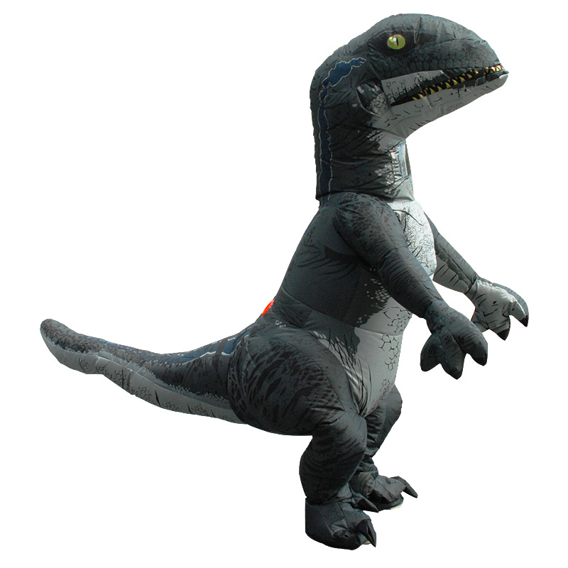 Adult Inflatable Dinosaur Costume Velociraptor Fancy Dress Outfit Cosplay 2019
