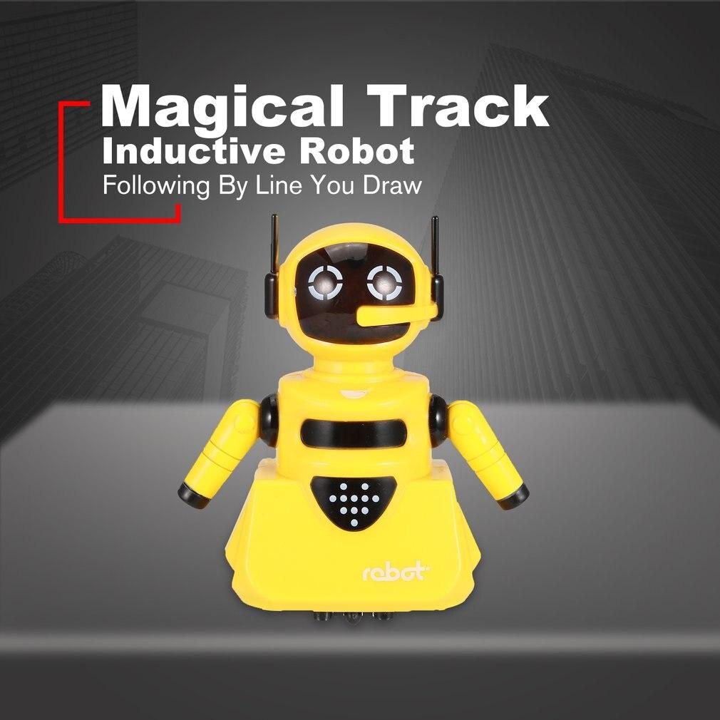 Modelo De Robot Inductivo De La Pista Mágica De La Inteligencia Que Sigue Por Línea Dibuja Los Juguetes De Los Niños Del Desarrollo De La Inteligencia Del Mini Vehículo