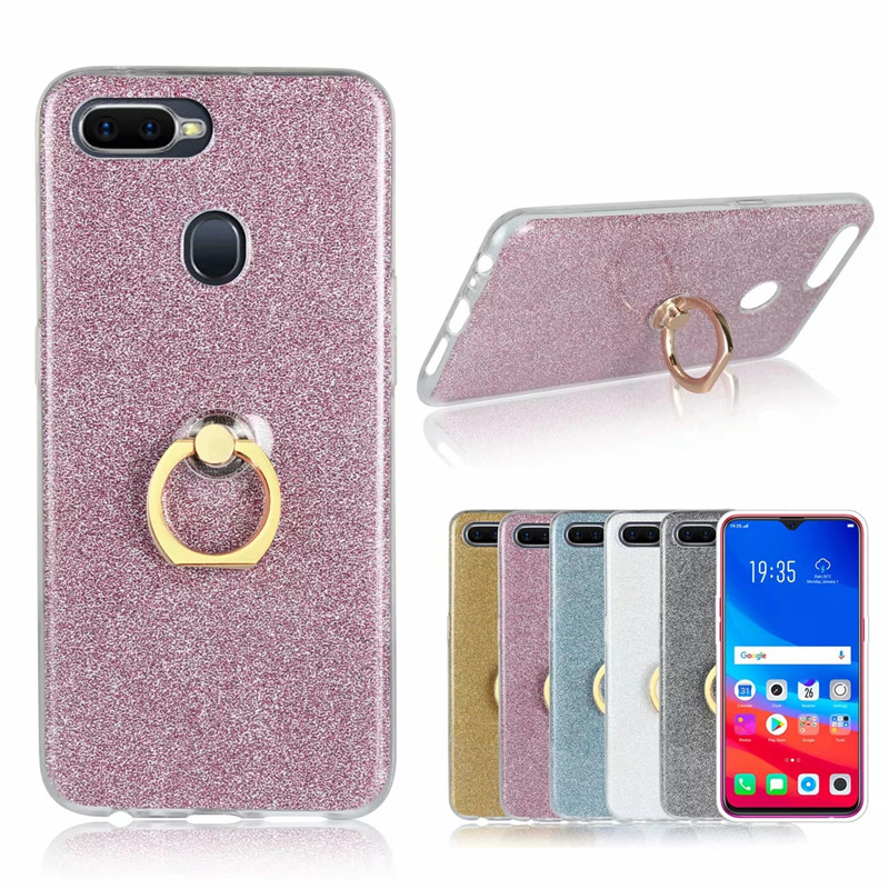 2 In 1 Shine Glitter Crystal TPU Case + Back Bling Protective Cover For OPPO F9 F5 F3 F1S F1 Case