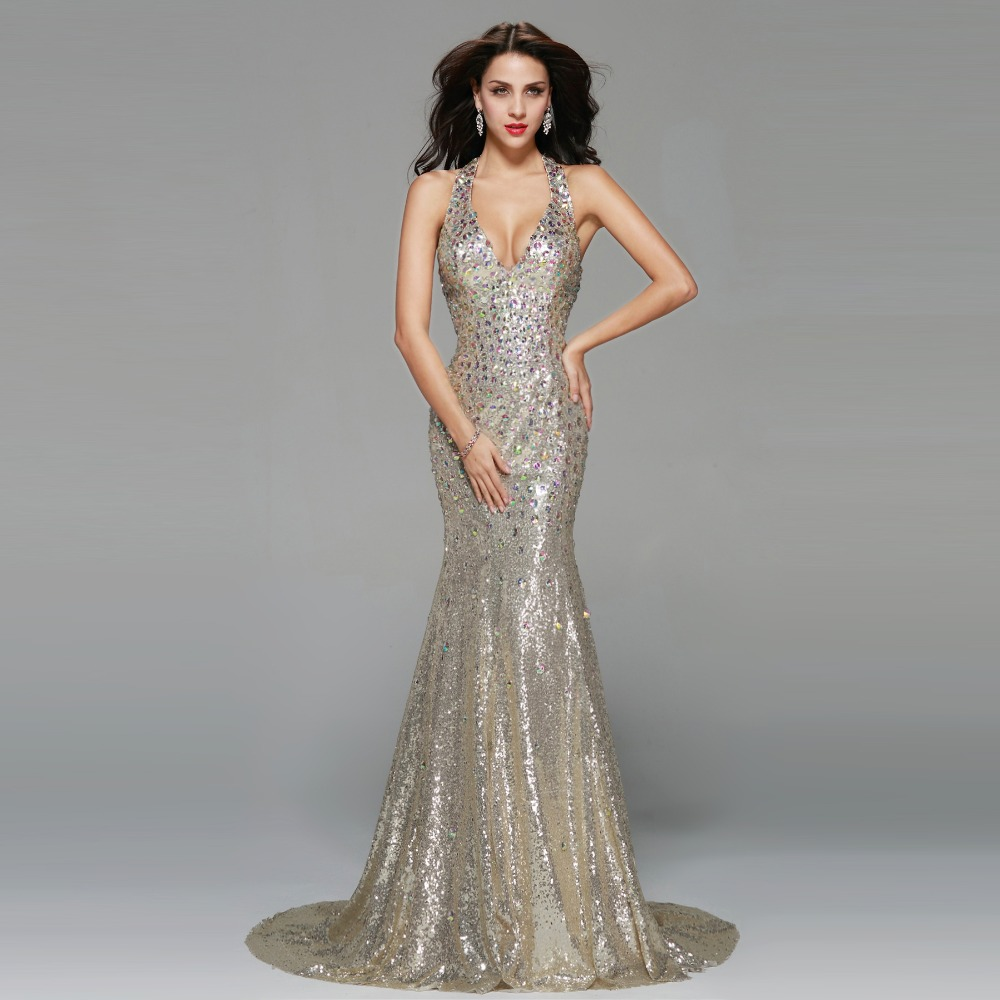 Silver Prom Gown Dress