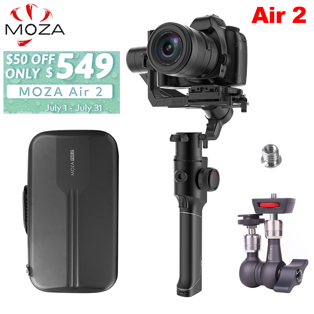 Moza Air 2 3 Axis Handheld Stabilizer w Bag for DSLR Mirrorless Camera for Sony A7