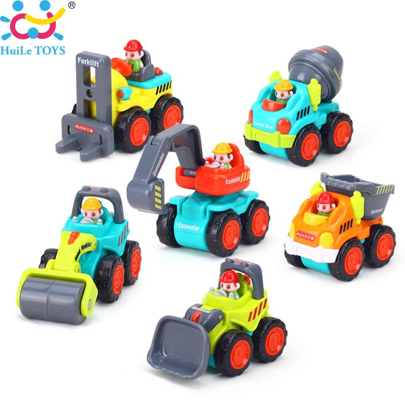 (Set of 6) Mini Plastic Car Construction Vehicle Engineering Car Dump Truck Artificial Model Toys for Children Boy Birthday Gift лазерный нивелир ada phantom 2d set [а00218]