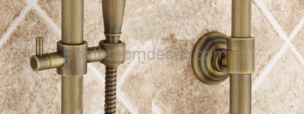 Antický bronzový vanový set na stěnu