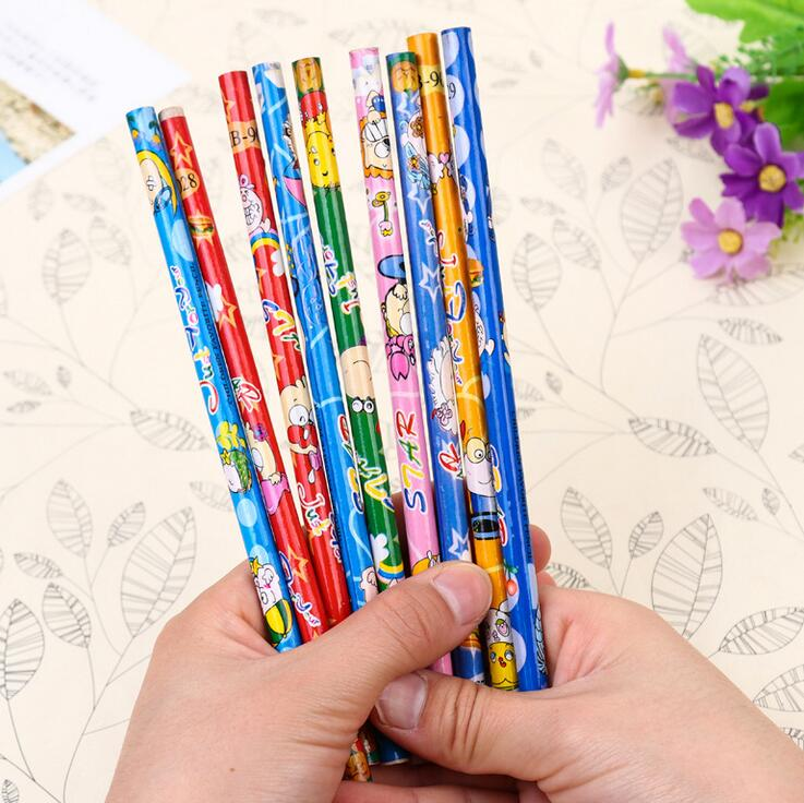 25 pcs lot bulk pencil HB pencil student stationery wholesale cartoon design wholesale price of single super Di office in Standard Pencils from Office School Supplies