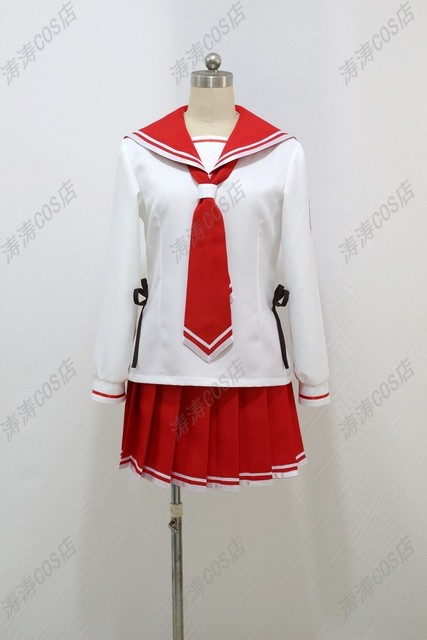 Hidan no aria Kanzaki H Aria School Uniform Cosplay Costume For Unisex top+ 27fec6aac784