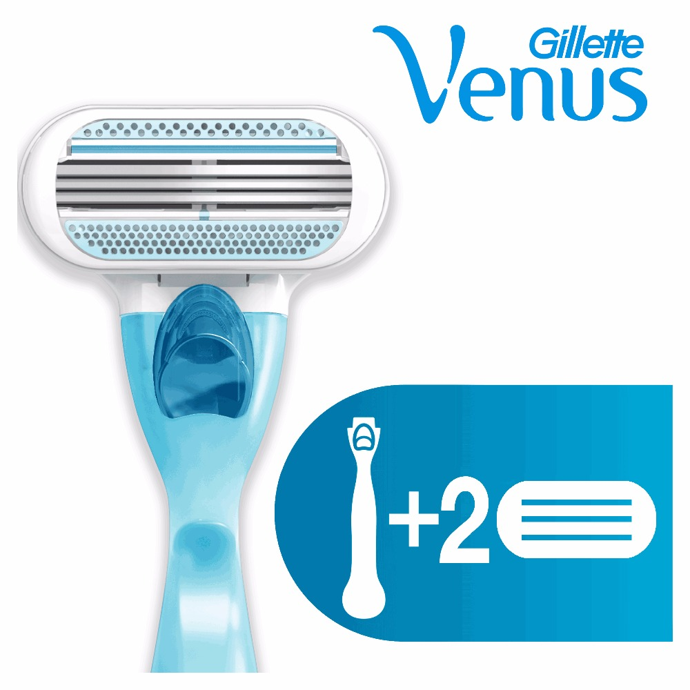 Razor Gillette Venus Shaver Razors Machine for shaving + 2 Razor Blades kemei professional 7 in 1 hair trimmer hair clipper shaver set electric shaver razor beard trimmer epilator hair cutting machine