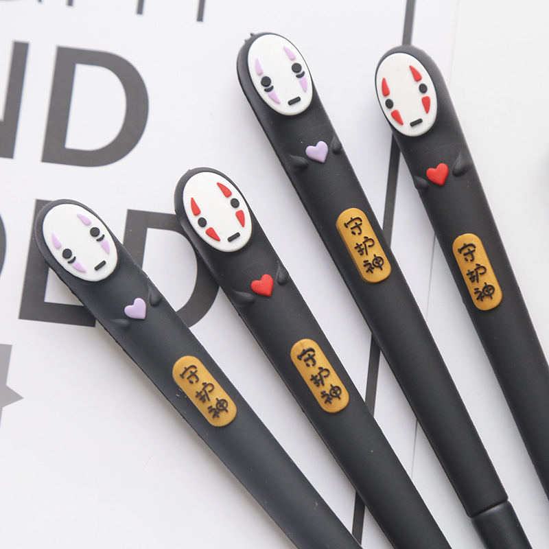 Japan Spirited Away No Face Man Gel Pen Cute 0.38 Mm Black Ink Neutral Pens Promotional Stationery Gift School Writing Supplies
