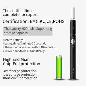 Image 3 - Pluscig V10 Heizung Vape Kit 900mAh Elektronische Zigarette für Heizung Tabak Patrone kompatibilität mit Marke stick