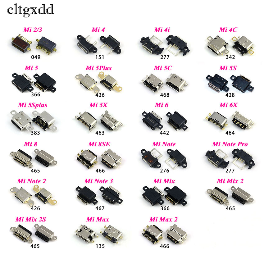 Cltgxdd Micro USB Connector Jack For Xiaomi Mi 2 3 4 4i 4C 5 5S Plus 5C 6 6X 8 8SE Note 2 3 Mix 2 2S Max DC Charging Socket Port