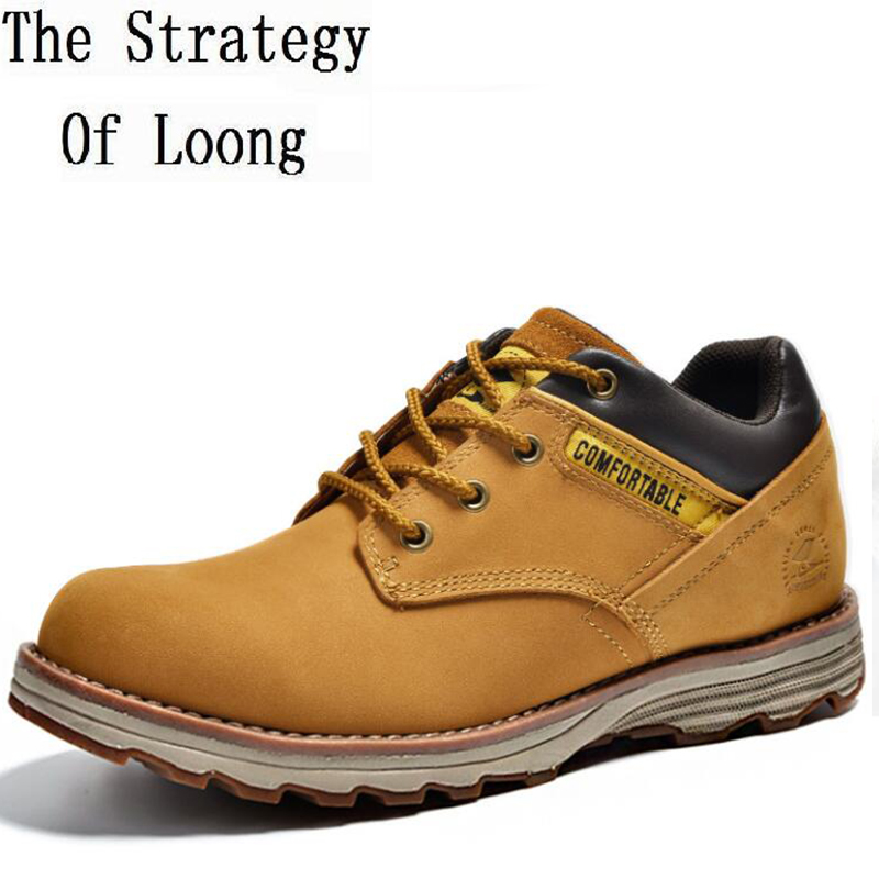 Men Spring Autumn Full Grain Leather Lace Up Flat Fashion Martin Boots Genuine Leather Comfortable 2016 New Boots 20161206 bimuduiyu luxury brand hot full grain genuine leather men casual shoes comfortable lace up breathable fashion sneakers flat shoe