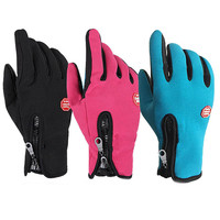 Winter Anti Skid Cycling Gloves Motorcycle Driving Men Women Ski Sports Waterproof Touch Screen Head Snowboard