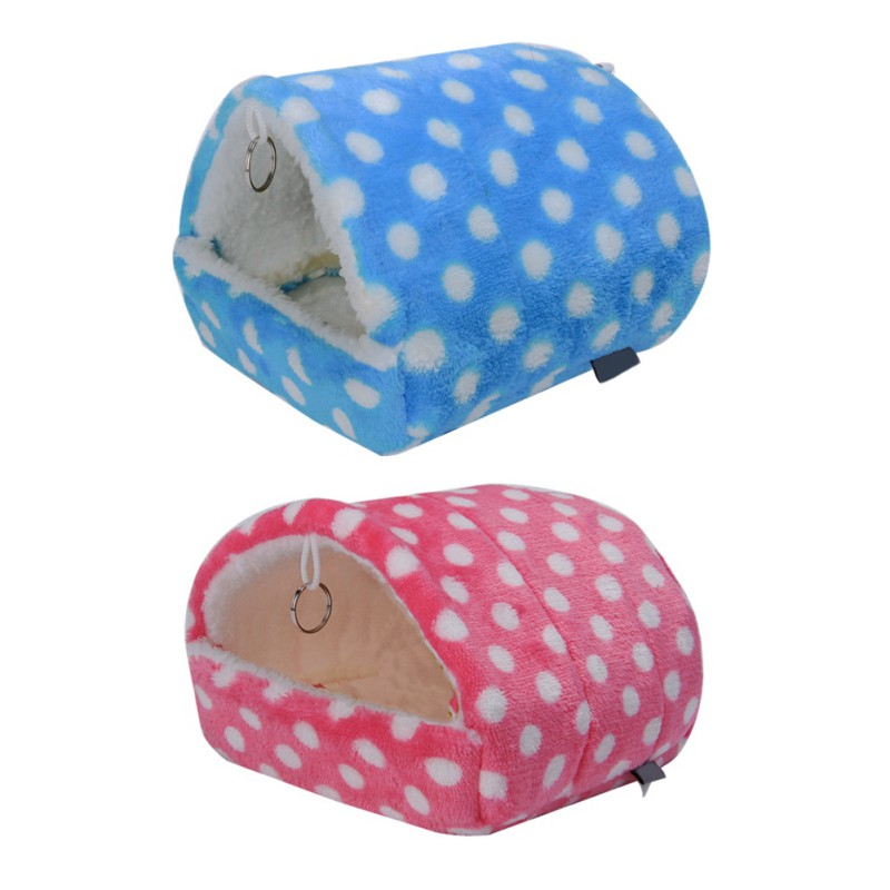 Plush Soft Guinea Pig House Bed Cage for Hamster Mini Animal Mice Rat Nest Bed Hamster House Small Pet Products in Cages from Home Garden