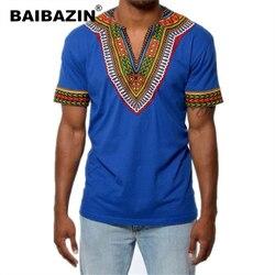BAIBAZIN África Roupas Dashiki Africano Tradicional Dashiki Camisa Homem Camisa Maxi Maxi T Camisa Homem Roupas de Verão T-shirt do Homem