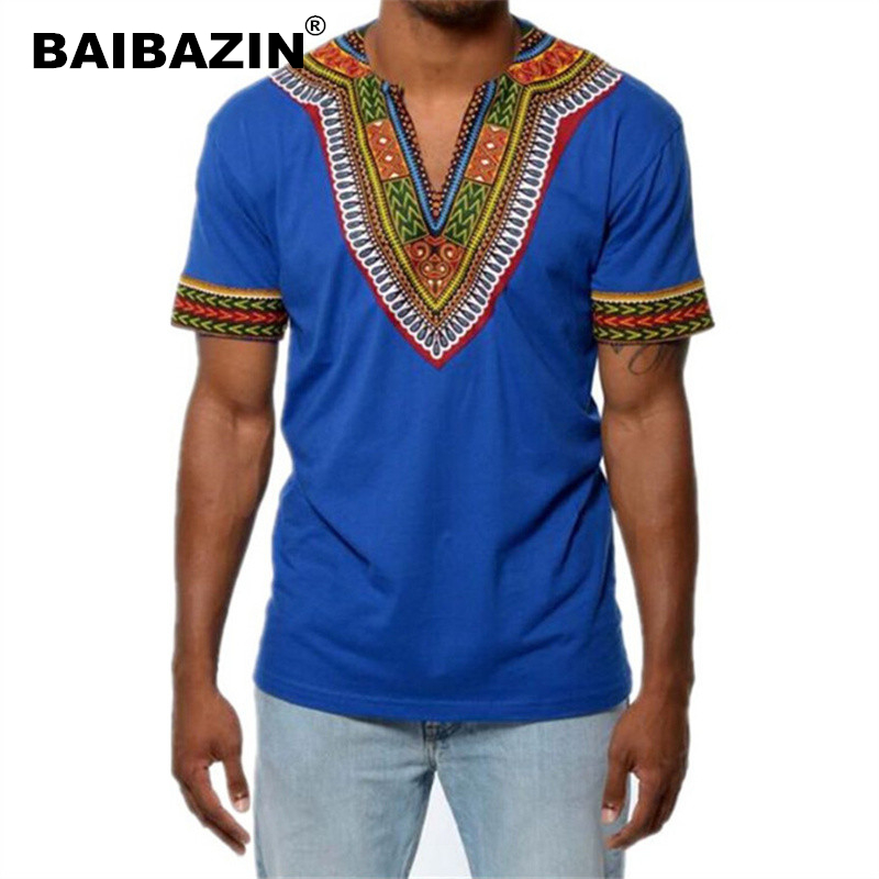 BAIBAZIN Africa Clothing African Dashiki Traditional Dashiki Maxi Man Shirt Shirt Maxi T Shirt Summer Man Clothes Man T-shirt
