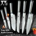 <font><b>XYj</b></font> набор кухонных ножей из нержавеющей стали для фруктов и овощей сантоку шеф-повара для нарезки хлеба японский кухонный нож набор аксессуа...