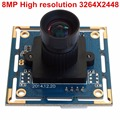 "Video cameras 1/3.2"" IMX179 high resolution android external 8mp usb camera module with 75 degree no distortion lens"