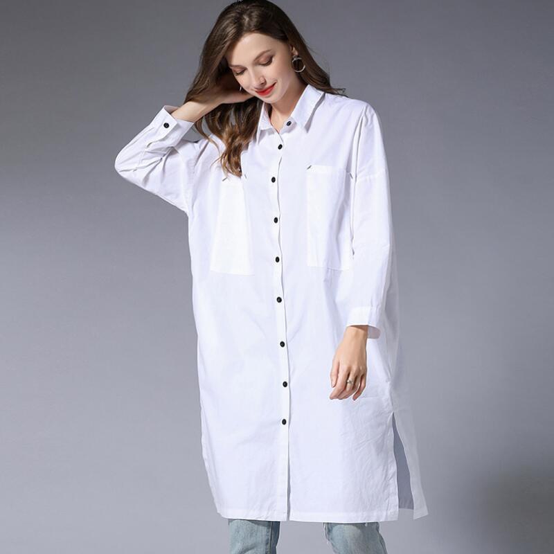 Blusas Mujer De Moda grande taille femme chemises décontractées amples confortable et Simple Style coréen femmes Blouses à manches longues