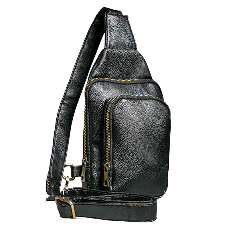 New Brand Urban fashion casual Men crossbody bags Solid Retro chest Bag High Quality Cool Messenger bags designer for Teenagers retail new designer women s outdoor crossbody bags graceful landscape print teenagers shoulder bag high quality casual bag