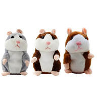 Talking Hamster Mouse Pet Plush Toy Hot Cute Speak Talking Sound Record Hamster Educational Toy For