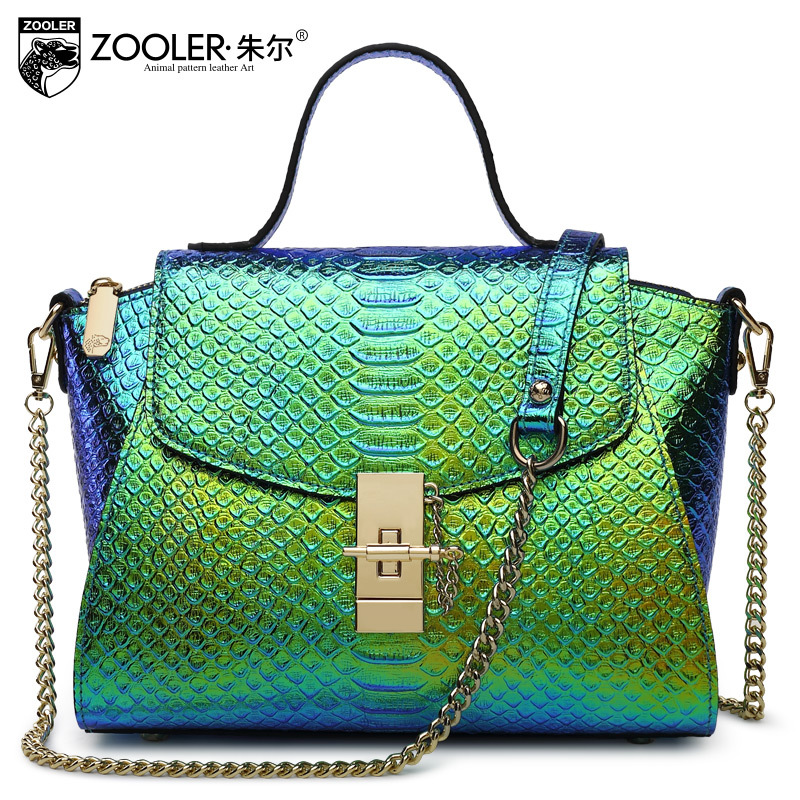 ZOOLER Female Fashion Wings Tote Bag Women Small Chains Crocodile Pattern Genuine Leather Handbags Lady Messenger Shoulder Bags women shoulder bags leather handbags shell crossbody bag brand design small single messenger bolsa tote sweet fashion style