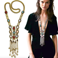 Exaggerated Personality Multi Layered Long Retro Necklace Women's Accessories Body Chain