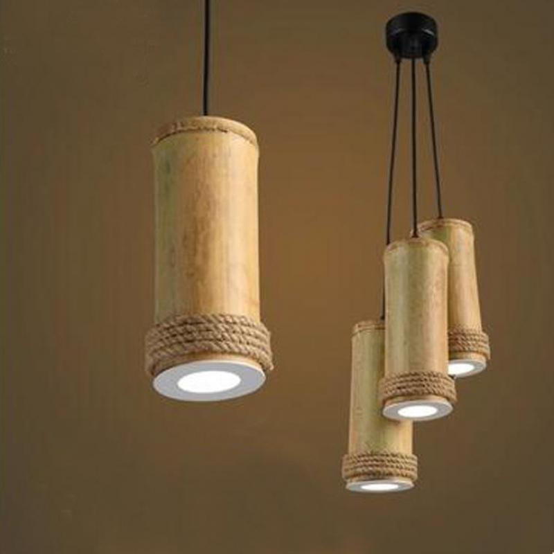 Retro creative bamboo chandelier antique style chandeliers light retro creative bamboo chandelier antique style chandeliers light fixtures loft style lustres e pendentes chandelier lighting in pendant lights from lights aloadofball