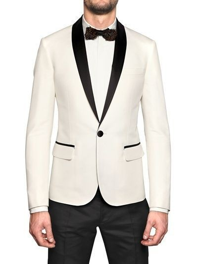 c44d33d4efbc Elegante desgaste para hombre blanco y negro smoking chaqueta de cena boda  Trajes para hombres