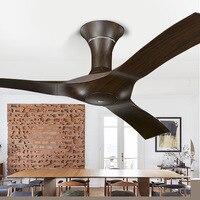 LukLoy Nordic потолочный вентилятор современный американский минималистичный ретро гостиная столовая гостиничная комната проект украшения пот