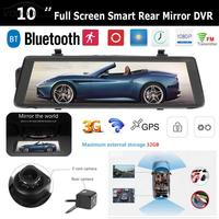 VODOOL 10 Touch Screen Rearview Mirror Android 3G WIFI Bluetooth Car DVR Camera GPS Navigator Dash