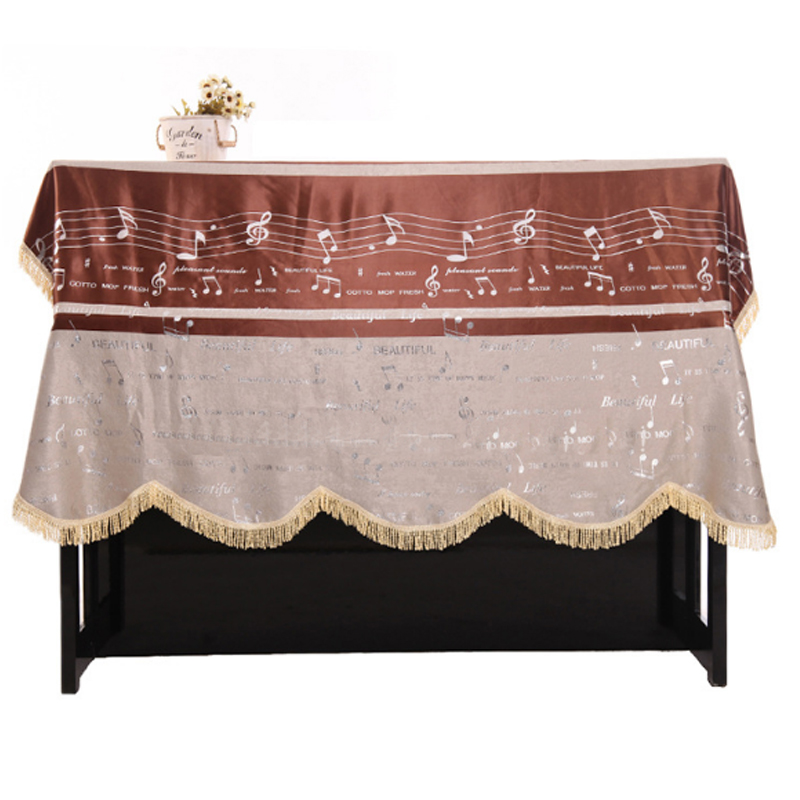 Dust Proof Practical European Style Piano Cover Thickening Cloth Decorated with Macrame for Universal Upright Vertical Piano
