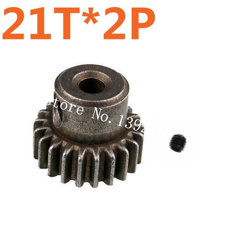 2 unids lote metal Motores engranaje 21 t HSP Actualización de piezas de  repuesto piñón con tornillo para traxxas himoto redcat HPI 1 10 modelo RC  car al 86784a99a6