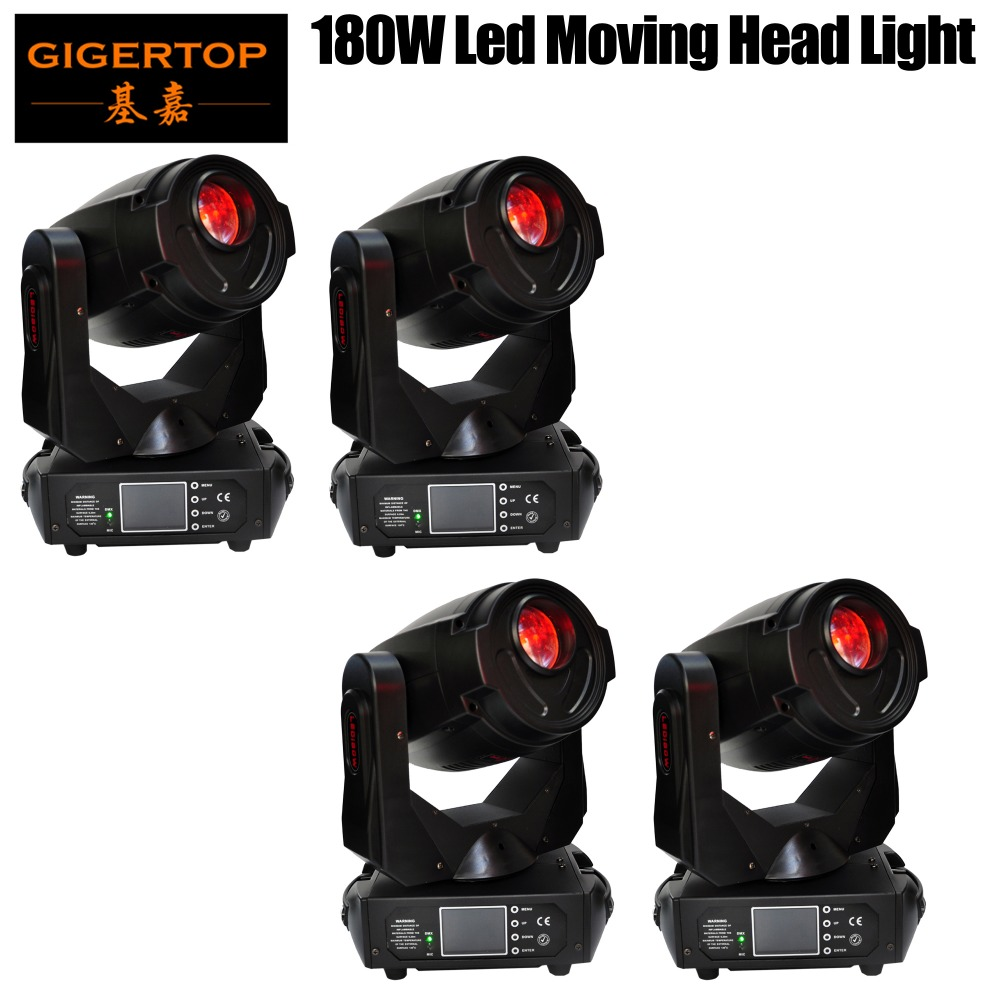 Discount Price 4 Pack TP-L680 180W Tyanshine Led Moving Head Light 3-Facet Rotating Prism Effect Frost Lens Fan Cooled CE ROHS