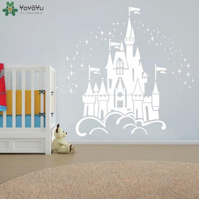 Fee Schloss Wandaufkleber Für Kinderzimmer Mädchen Baby Schlafzimmer ...