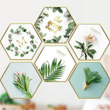 Removable Sticker Tropical Plant Literary For Living Room Wall Decoration Bedroom Background Nortic Style Mural Art Poster(China)