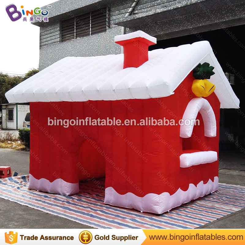 3.8*3.2*2.7m Factory direct inflatable Christmas house Santa Claus house tent inflatable Christmas outdoor advertising ornaments inflatable cartoon customized advertising giant christmas inflatable santa claus for christmas outdoor decoration