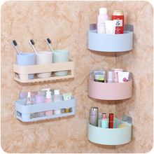 Suction Wall Bathroom Kitchen Storage Shelf for Shower Bath Organizer Support Housewares Items Toiletries Tripod Wholesale